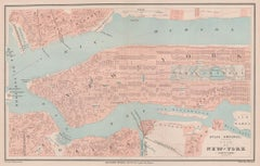 Plan of New York, engraving, 1877
