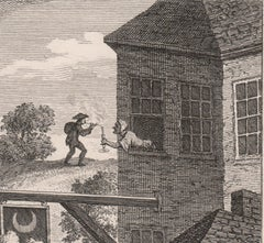 Satire on False Perspective, engraving by Luke Sullivan after William Hogarth