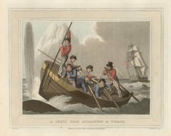 Whale Fishery, a set of four colour aquatints after John Heavenside Clark, 1813