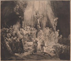 The Three Crosses, etching by Armand-Durand after Rembrandt, circa 1880