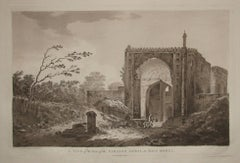 View of the Gate of the Caravan Serai, at Raje Mahel, India, by William Hodges