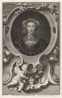 Ann of Cleves, Queen of Henry VIII, portrait engraving, c1820