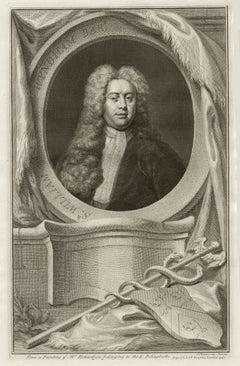 Sir William Wyndham, portrait engraving, c1820