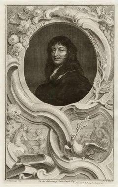 Sir William Temple, portrait engraving, c1820
