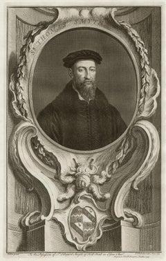 Sir Thomas Smyth, portrait engraving, c1820