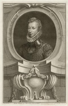Sir Philip Sydney, portrait engraving, c1820
