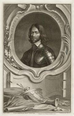 General Jreton, English Civil War, portrait engraving, c1820