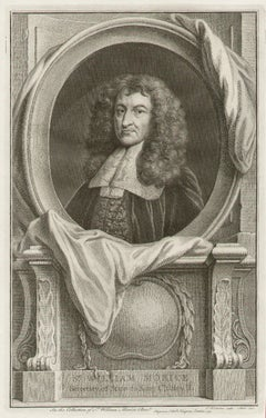 Sir William Morice, portrait engraving, c1820