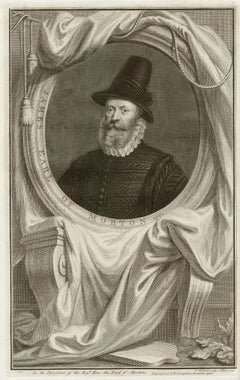 James Earl of Morton, portrait engraving, c1820