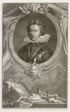 Henry Prince of Wales Son of James I, portrait engraving, c1820