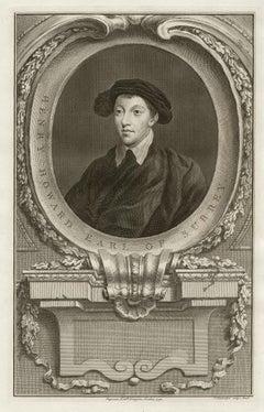 Henry Howard Earl of Surrey, portrait engraving, c1820