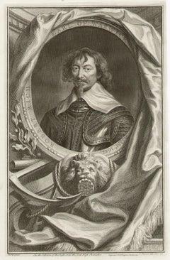 Robert Rich Earl of Warwick, portrait engraving, c1820