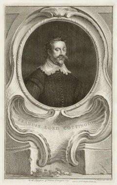Francis Lord Cottington, portrait engraving, c1820