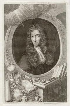 Robert Boyle, portrait engraving, c1820