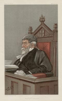 The City of London Court, Vanity Fair legal chromolithograph of a judge, 1900