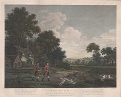 Shooting. English engraving by Woollett after George Stubbs, 1799