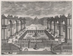 French 17th century garden design engraving by Jean Marot, circa 1665