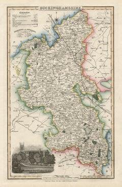 Buckinghamshire, English County Antique map, 1847