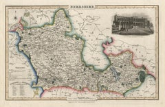 Berkshire, English County Antique map, 1847