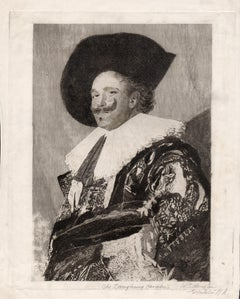 The Laughing Cavalier, etching by W Edwin Law after Frans Hals, c1925