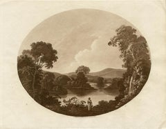 Near Bath, sepia aquatint, Charles Dibdin, 1801