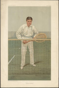 Hugh Doherty, Thrice Champion, tennis player, Vanity Fair chromolithograph, 1904