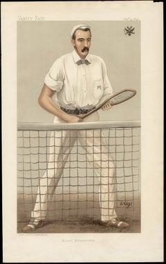 Michael Michailovitch, Russian tennis player, Vanity Fair chromolithograph, 1894