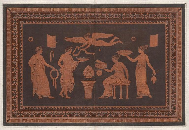 Pierre Francois Hugues D'Hancarville (author) Figurative Print - William Hamilton Classical Greek Vase-Painting Engraving