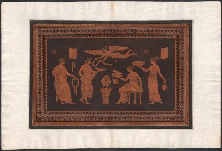 William Hamilton Classical Greek Vase-Painting Engraving - Print by Pierre Francois Hugues D'Hancarville (author)