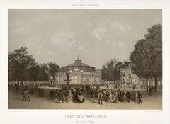 Paris - Cirque de L'Imperatrice, French lithograph, 1861