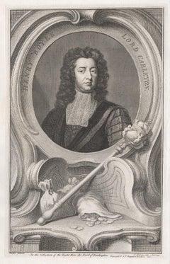 Henry Boyle, Lord Carleton, portrait engraving, c1820