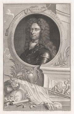 Lieutenant General Talmash, portrait engraving, c1820