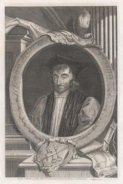George Morley Bishop of Winchester, portrait engraving, c1820