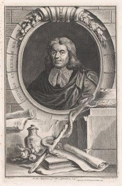 Thomas Sydenham MD, portrait engraving, c1820