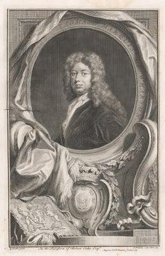 Thomas Marquis of Wharton, portrait engraving, c1820