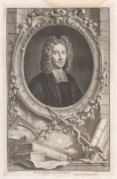 Samuel Clarke DD, portrait engraving, c1820