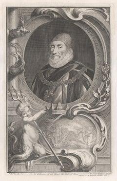 Charles Howard Earl of Nottingham, portrait engraving, c1820