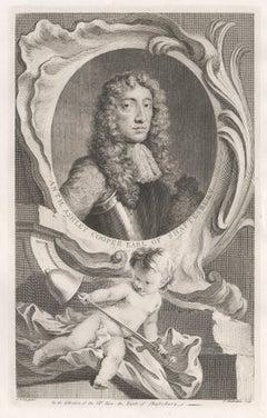 Anthony Ashley Cooper Earl of Shaftesbury, portrait engraving, c1820