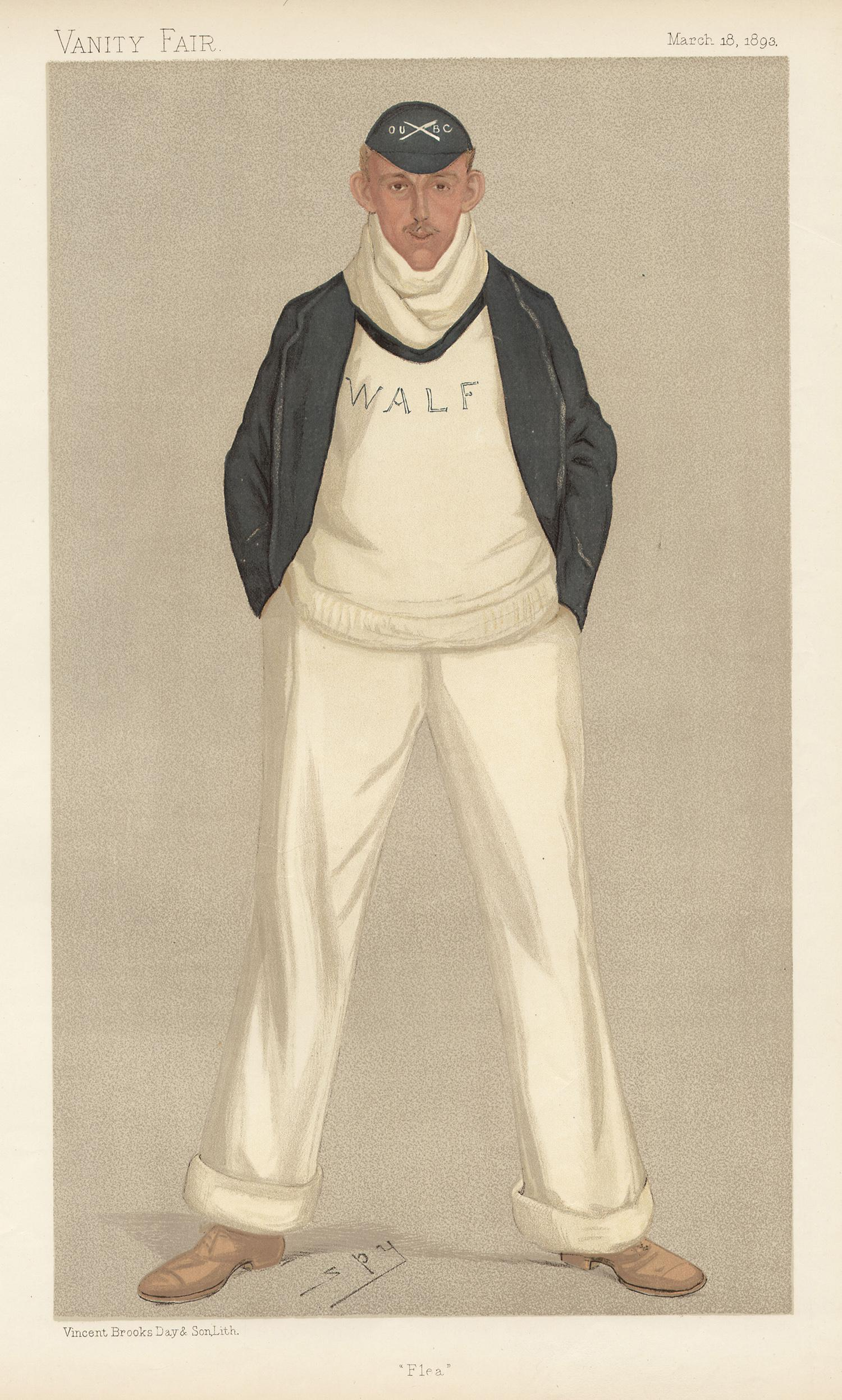 William Fletcher, rower, Vanity Fair rowing portrait chromolithograph, 1893