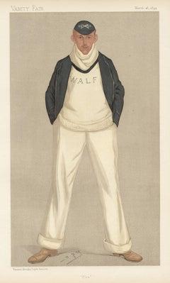 William Fletcher, rower, Vanity Fair rowing portrait chromolithograph, 1893