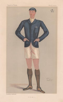 Lord Ampthill, rower, Vanity Fair rowing portrait chromolithograph, 1891