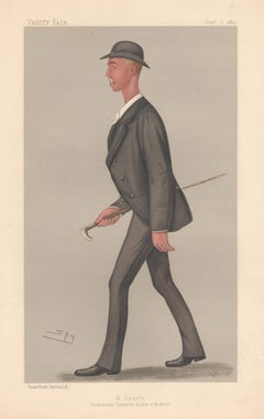 Henry Searle, rower, Vanity Fair rowing portrait chromolithograph, 1889