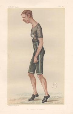 Walter Goodall George, runner, Vanity Fair portrait chromolithograph, 1884