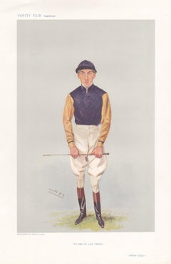 William Griggs, jockey, Vanity Fair horse racing portrait chromolithograph, 1906
