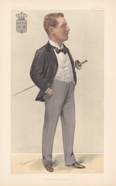 Prince Henry of Orleans, Vanity Fair fencing portrait chromolithograph, 1897