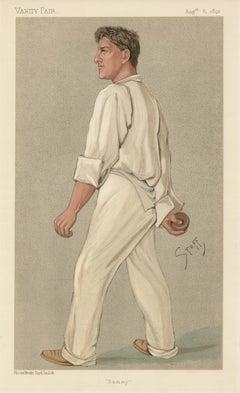 Samuel Woods, Vanity Fair cricket portrait chromolithograph, 1892