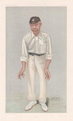 Robert Abel, Vanity Fair cricket portrait chromolithograph, 1902