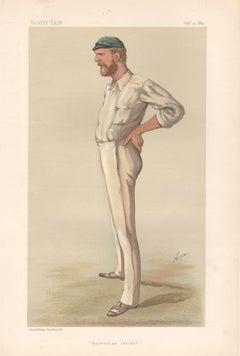 George Bonnor, Vanity Fair Australian cricket portrait chromolithograph, 1884