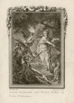 Juno and the Furies, Ovid's Metamorphoses, French Classical Myth engraving, 1768