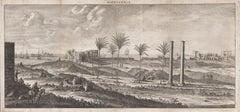 Alexandria, Egypt, copper-line engraving by Cornelius de Bruyn , 1690
